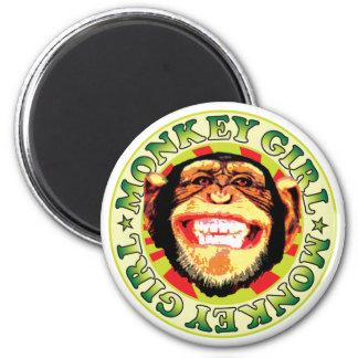 Monkey Girl Refrigerator Magnet