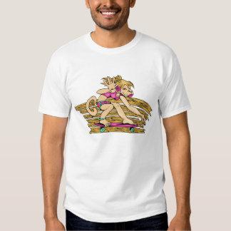 Monkey Girl Skateboarding Gear Tee Shirt