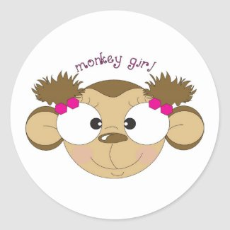 Monkey Girl Sticker sticker