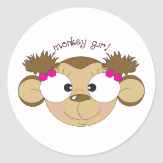 Monkey Girl Sticker