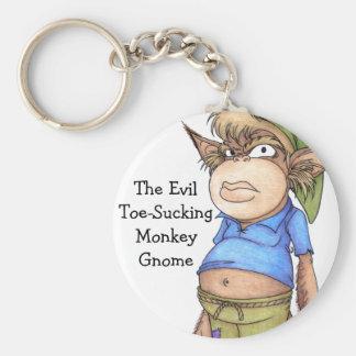 Monkey Gnome Keychain