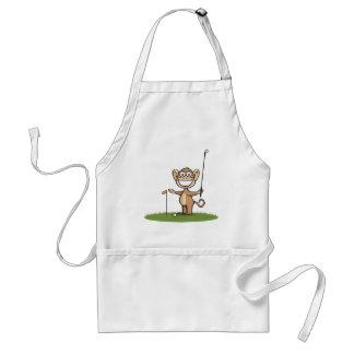 Monkey Golf Adult Apron