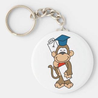 Monkey Graduate Tshirts and Gifts Basic Round Button Keychain