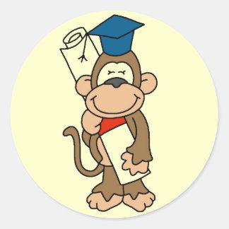 Monkey Graduate Tshirts and Gifts Classic Round Sticker
