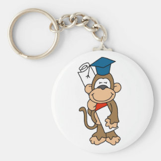 Monkey Graduate Tshirts and Gifts Keychain