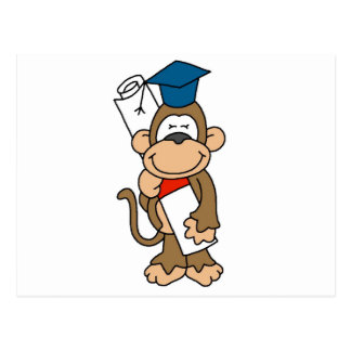Monkey Graduate Tshirts and Gifts Postcard