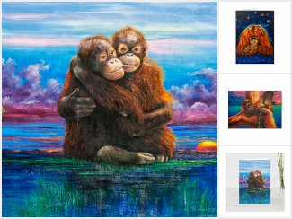 Monkey Greeting cards Collection