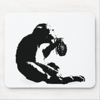 Monkey grenade mouse pads