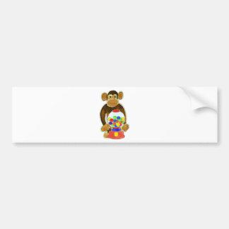 Monkey Gumball Machine Bumper Sticker