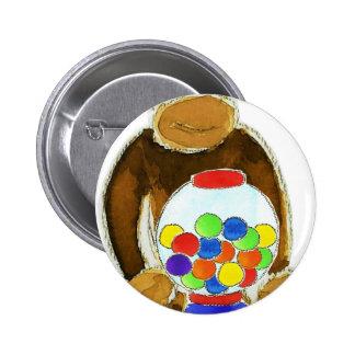 Monkey Gumball Machine Pinback Buttons