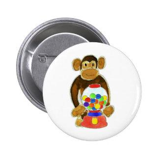 Monkey Gumball Machine Pins