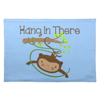 Monkey Hang in There Place Mat