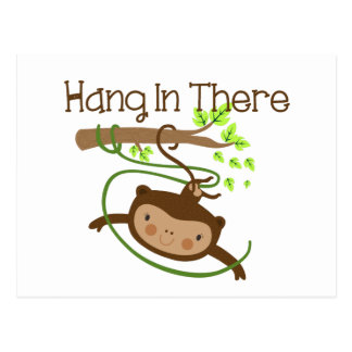 Monkey Hang in There Post Cards