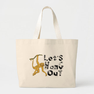 Monkey Hang Out Large Tote Bag
