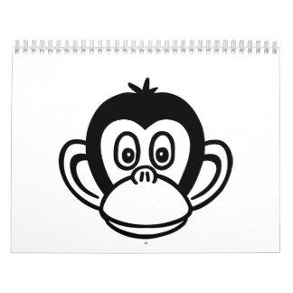Monkey head calendar