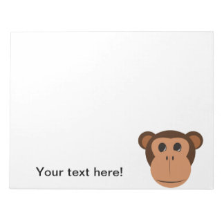 Monkey head cartoon notepad
