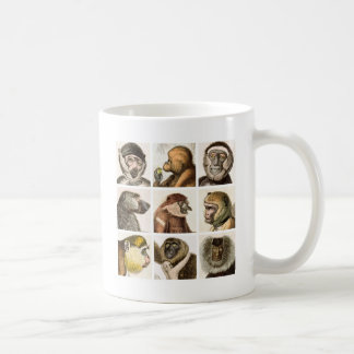Monkey Head COLLAGE - Coffee Mug