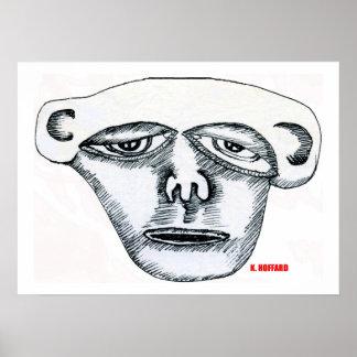 Monkey Head Posters