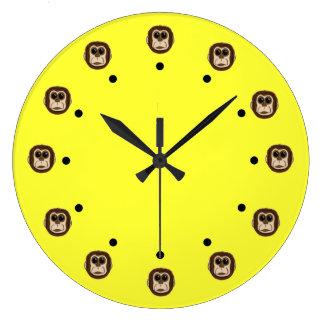 Monkey Heads Wall Clocks