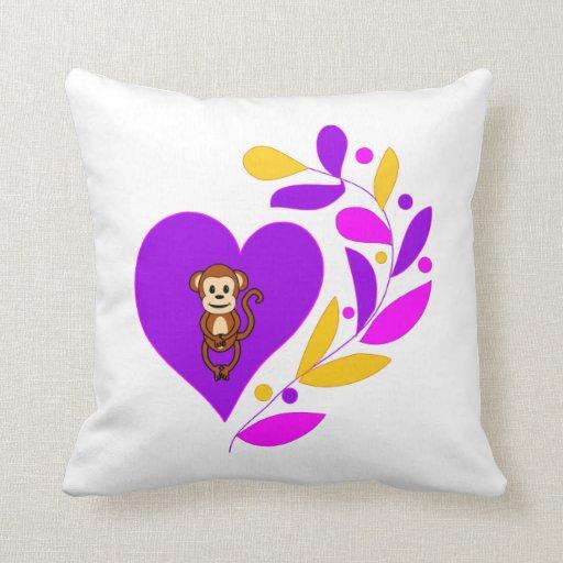 Monkey Heart Pillow
