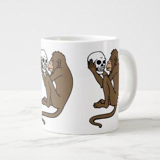 Monkey Holding A Skull Large Coffee Mug