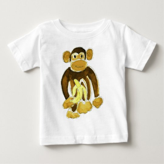 Monkey Holding Banana Baby T-Shirt