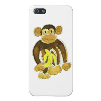 Monkey Holding Banana Cover For iPhone SE/5/5s