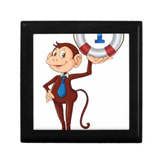 monkey holding float keepsake boxes