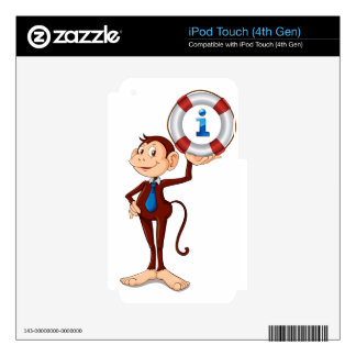 monkey holding float iPod touch 4G decal