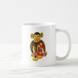 Monkey Holding One Coffee Mug