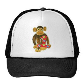 Monkey Holding One Trucker Hat