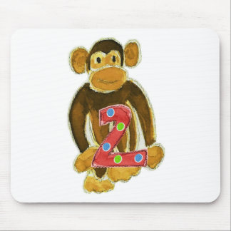 Monkey Holding Two Mouse Pad