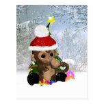 Monkey Holiday Postcard - Cute Monkey Postcard