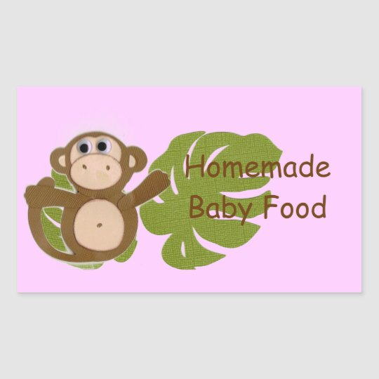 Monkey Homemade Baby Fruit Vegetable Food Label