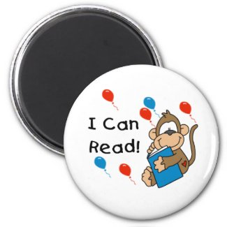 Monkey I Can Read magnet