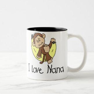 Monkey I Love Nana Two-Tone Coffee Mug