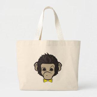 monkey identica tote bags
