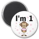 Monkey I'm 1 Birthday Tshirts and Gifts Refrigerator Magnet