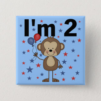Monkey I'm 2 Tshirts and Gifts Pinback Button