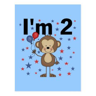 Monkey I'm 2 Tshirts and Gifts Postcard