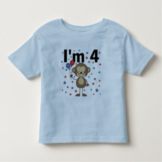 Monkey I'm 4 T-shirts and gifts