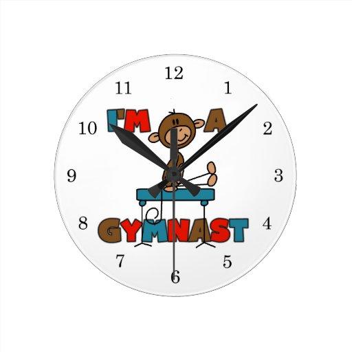 Monkey I'm a Gymnast Round Clock