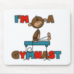 Monkey I'm a Gymnast T-shirts and Gifts Mouse Mat