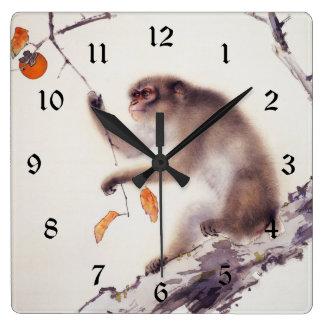 Monkey in a Persimmon Tree Wallclock