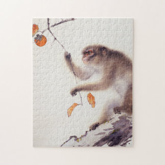 Monkey in a Persimmon Tree Jigsaw Puzzle