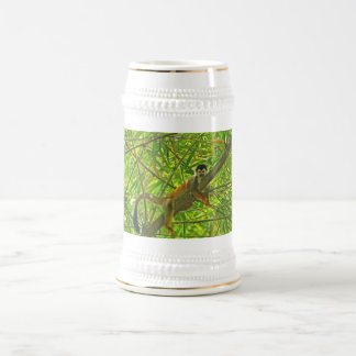 Monkey in Bamboo Jungle Beer Stein