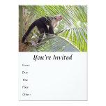 Monkey in Bamboo Jungle Photo 5x7 Paper Invitation Card
