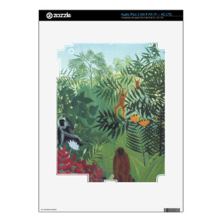 Monkey in Jungle by Rousseau Ipad 3 Zazzle Skin Skins For iPad 3