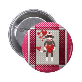 Monkey in love. button