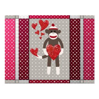 Monkey in love. postcard